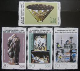 Poštovní známky DDR 1987 Výstava umìní Mi# 3124-27