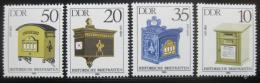 Poštovní známky DDR 1985 Poštovní schránky Mi# 2924-27
