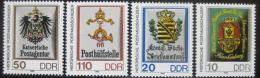 Poštovní známky DDR 1990 Poštovní insignie Mi# 3302-05