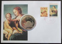 FDC USA 1995 Umìní, Rafael s 5 USD mincí