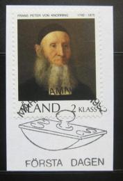 Poštovní známka Alandy 1992 Reverend Knorring na papíøe Mi# 56
