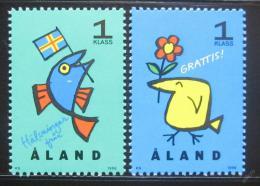 Poštovní známky Alandy 1996 Pozdravy Mi# 107-08