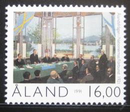 Poštovní známka Alandy 1991 Výroèí autonomie Mi# 53