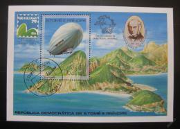 Poštovní známka Svatý Tomáš 1979 Vzducholoï Mi# Block 36 Kat 25€