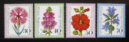 Poštovní známky Nìmecko 1974 Kvìtiny Mi# 818-21