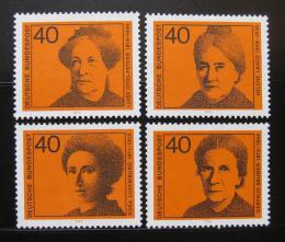 Poštovní známky Nìmecko 1974 Slavné ženy Mi# 791-94
