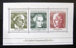 Poštovní známky Nìmecko 1969 Slavné ženy Mi# Block 5
