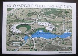 Poštovní známky Nìmecko 1972 LOH Mnichov Mi# Block 7