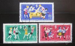 Poštovní známky DDR 1961 Setkání pionýrù Mi# 827-29