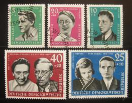 Poštovní známky DDR 1961 Portréty Mi# 849-53