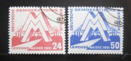 Poštovní známky DDR 1951 Lipský veletrh Mi# 282-83 Kat 24€