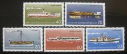 Poštovní známky Západní Berlín 1975 Lodì Mi# 483-87