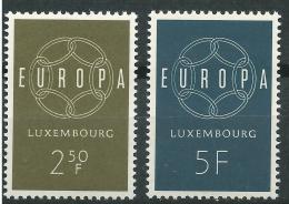 Poštovní známky Lucembursko 1959 Evropa CEPT Mi# 609-10
