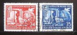 Poštovní známky DDR 1952 Lipský veletrh Mi# 315-16