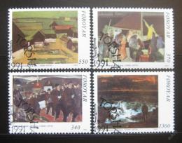Poštovní známky Faerské ostrovy 1991 Umìní Mi# 223-26