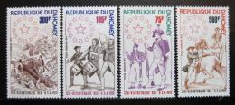 Poštovní známky Dahomey 1975 Americká revoluce Mi# 636-39