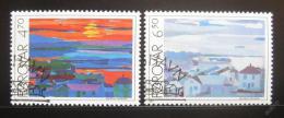 Poštovní známky Faerské ostrovy 1987 Umìní, Heinesen Mi# 160-61