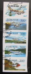 Poštovní známky Faerské ostrovy 1985 Letadla, na papíøe Mi# 125-29