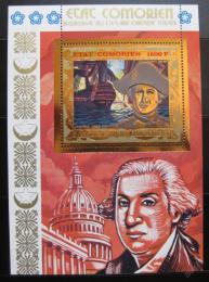 Poštovní známka Komory 1976 Americká revoluce Mi# Block 19
