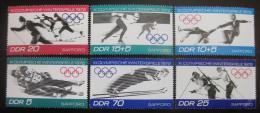 Poštovní známky DDR 1971 ZOH Sapporo Mi# 1725-30