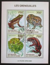 Poštovní známky Pobøeží Slonoviny 2014 Žáby Mi# 1514-17