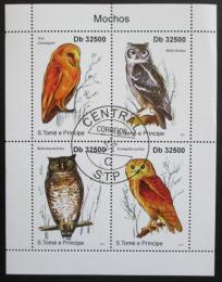 Poštovní známky Svatý Tomáš 2011 Sovy Mi# 4917-20 Kat 13€ - zvìtšit obrázek