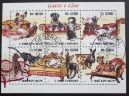 Poštovní známky Svatý Tomáš 2010 Koèky a psi Mi# 4308-13