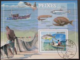 Poštovní známka Svatý Tomáš 2009 Rybaøení Mi# Bl 687