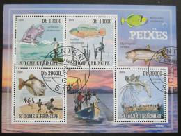 Poštovní známky Svatý Tomáš 2009 Rybolov Mi# 4043-46