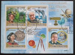 Poštovní známky Svatý Tomáš 2009 Slavní vìdci II Mi# 4039-42 - zvìtšit obrázek