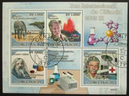 Poštovní známky Svatý Tomáš 2009 Slavní vìdci III Mi# 4031-34