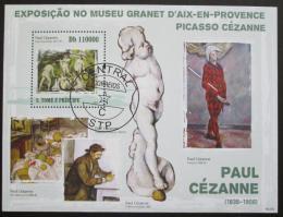 Poštovní známka Svatý Tomáš 2009 Umìní, Cézanne Mi# Block 737