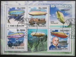 Poštovní známky Svatý Tomáš 2009 Vzducholodì Mi# 4063-66 - zvìtšit obrázek