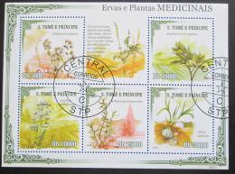 Poštovní známky Svatý Tomáš 2009 Léèivé rostliny Mi# 4236-40