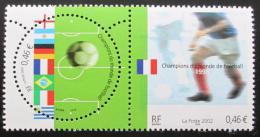 Poštovní známky Francie 2002 MS ve fotbale Mi# 3620-21