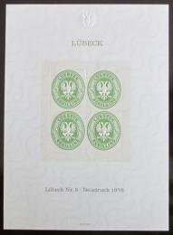 Vinìta Nìmecko 1978 Novotisk známky Lubeck Mi# 8