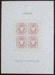Vinìta Nìmecko 1978 Novotisk známky Lubeck Mi# 14