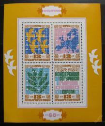 Poštovní známky Bulharsko 1974 Konference bezpeènosti Mi# Block 53