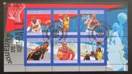 Poštovní známky Komory 2010 Basketbalové hvìzdy Mi# 2865-70