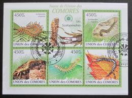 Poštovní známky Komory 2009 Stonožky Mi# 2328-32