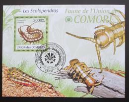 Poštovní známka Komory 2009 Housenky Mi# Block 510 Kat 15€