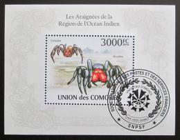 Poštovní známka Komory 2009 Pavouci Mi# Block 571 Kat 15€