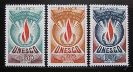 Poštovní známky Francie 1975 UNESCO Mi# 13-15