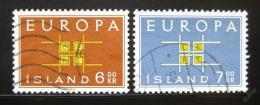 Poštovní známky Island 1963 Evropa CEPT Mi# 373-74
