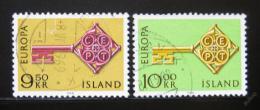 Poštovní známky Island 1968 Evropa CEPT Mi# 417-18