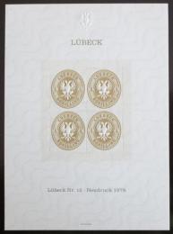 Vinìta Nìmecko 1978 Novotisk známky Lubeck Mi# 12