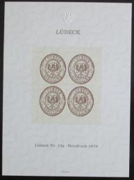 Poštovní známky Nìmecko 1978 Novotisk známky Lubeck Mi# 13a