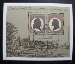 Poštovní známky DDR 1982 Goethe-Schiller Cena Mi# Block 66