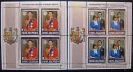 Poštovní známky Cookovy ostrovy 1981 Královská svatba Mi# 796-97 Kat 36€