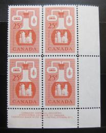 Poštovní známky Kanada 1956 Chemický prùmysl, ètyøblok Mi# 310